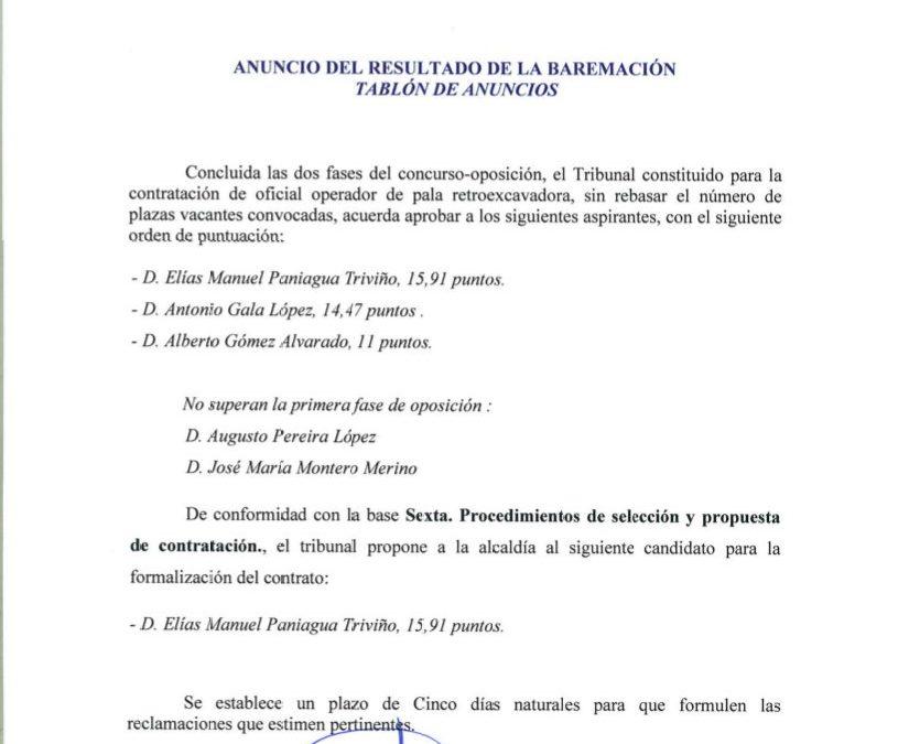 Prueba de selección de candidatos operador de retroexcavadora