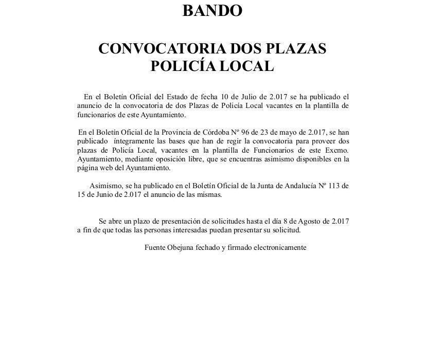 Plaza de Policía Local 1