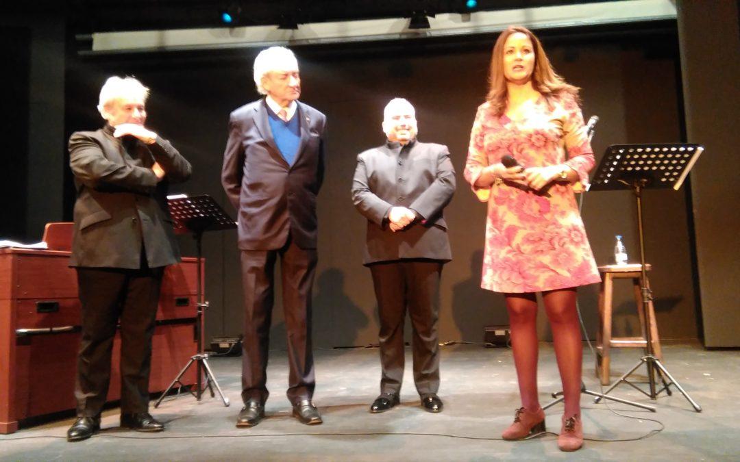 """Celebrado el recital poético """"Homenaje a Fuenteovejuna"""" en el Teatro Municipal con Luis del Olmo, Luis Santana y Antonio López  1"""