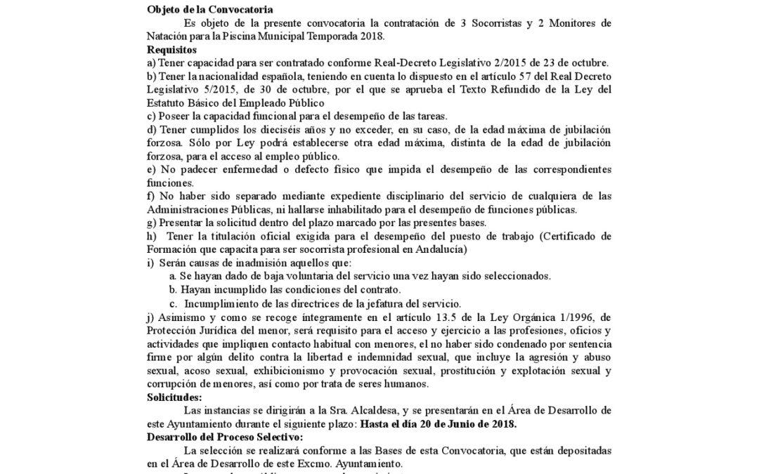 Bases Socorristas y Monitores Piscina 2018 1