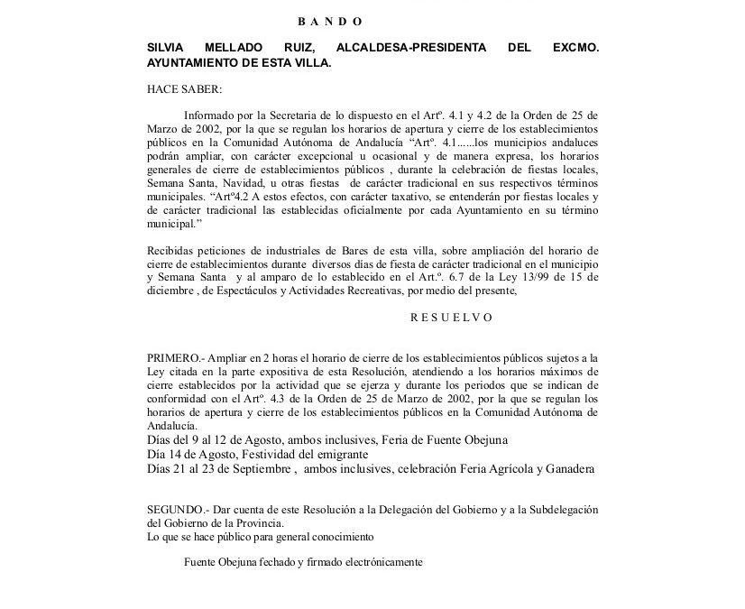 BANDO AMPLIACION CIERRE ESTABLECIMIENTOS FERIA Y FAGA 2018 1