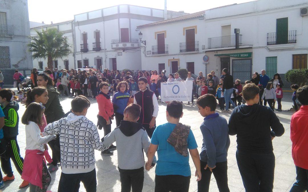Más de trescientas personas participan en Fuente Obejuna en las actividades programadas con motivo del Día Mundial de la diabetes 1
