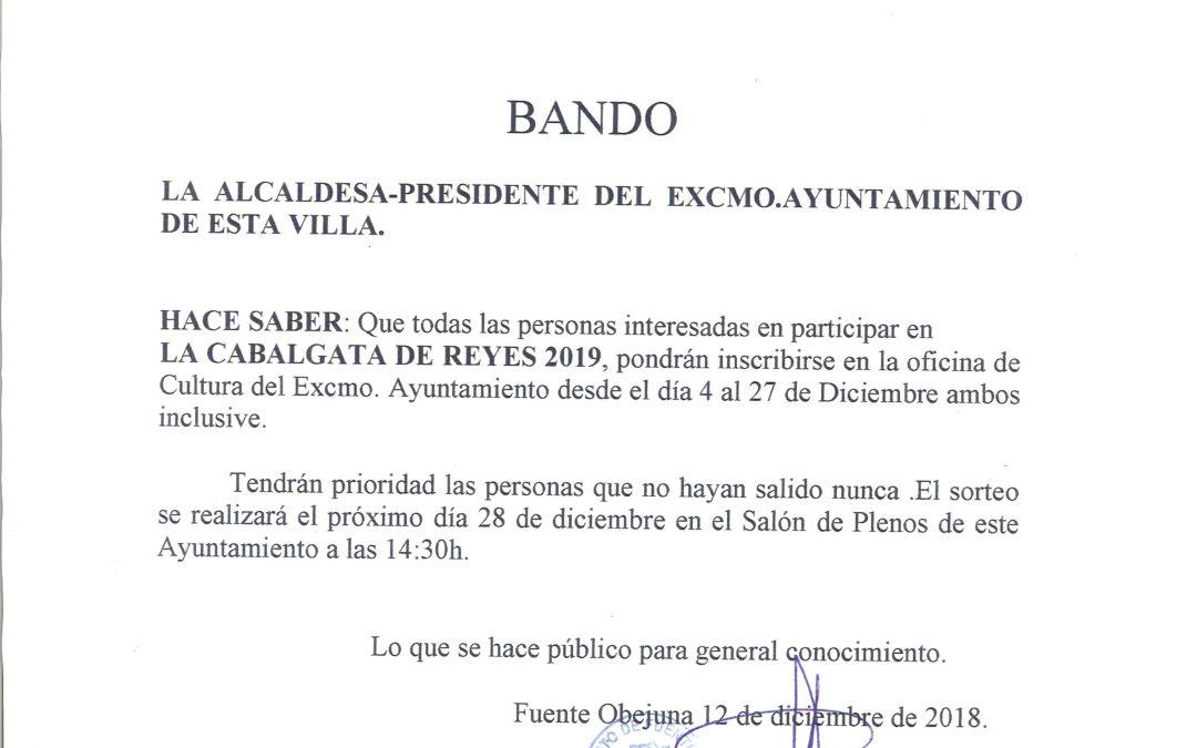Bando Cabalgata de Reyes 2019 1