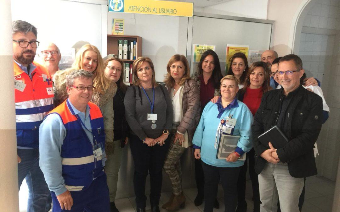 La Delegada de Salud de la Junta de Andalucía María Jesús Botella visita el Centro de Salud de Fuente Obejuna 1