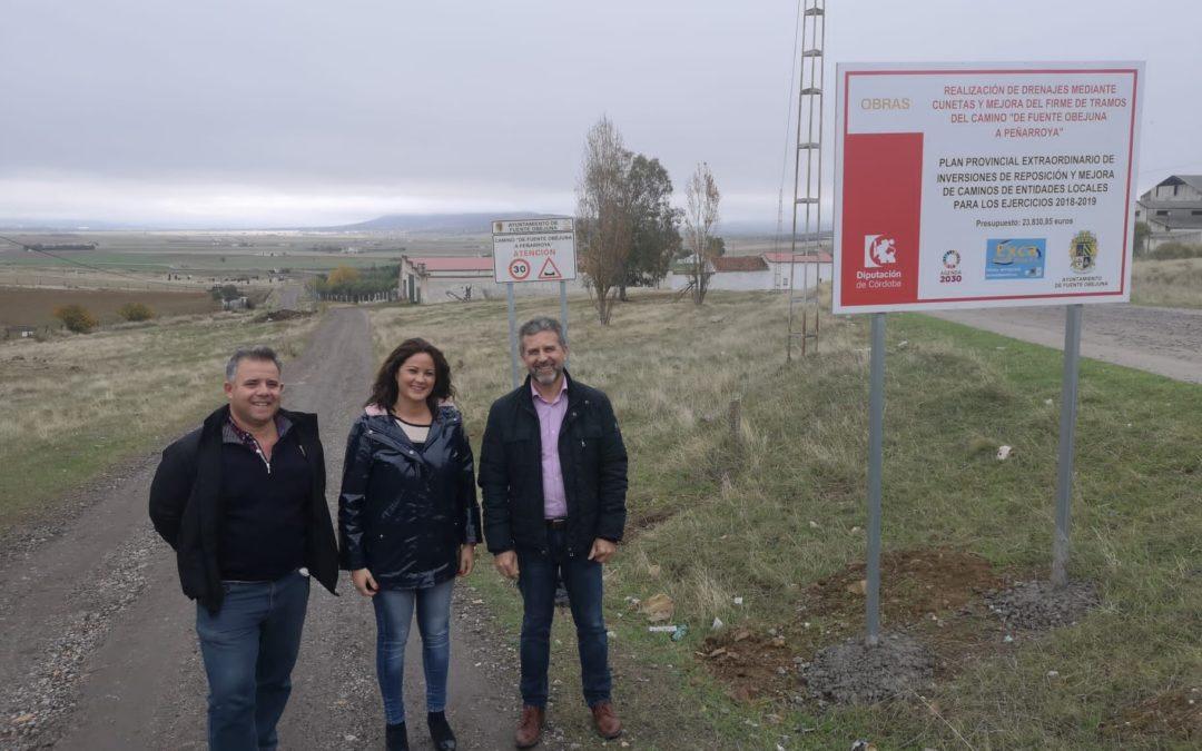 El Diputado delegado de Agricultura e Infraestructuras Rurales Francisco Ángel Sánchez visita Fuente Obejuna y entrega varios caminos reparados con fondos de la Diputación 1