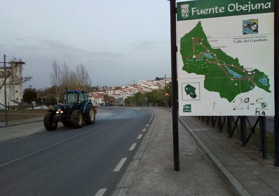 Fuente Obejuna desinfecta todas sus calles y las de sus catorce aldeas 1