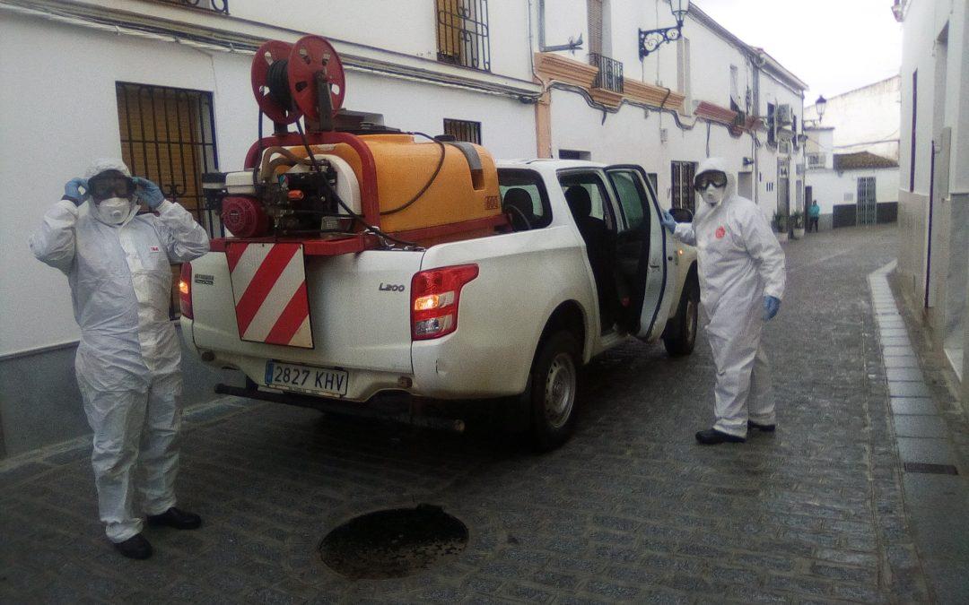 El INFOCA desinfecta de coronavirus diversas instalaciones de Fuente Obejuna y sus 14 aldeas 1