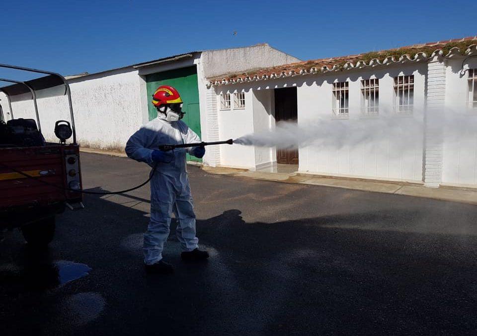La desinfección por el COVID-19 continúa en Fuente Obejuna y sus 14 aldeas 1