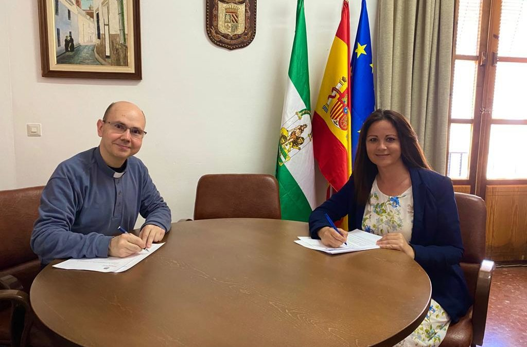 Firmado el Convenio de colaboración del Ayuntamiento de Fuente Obejuna con la Residencia de Ancianos los Ángeles que asciende a 5000 Euros 1