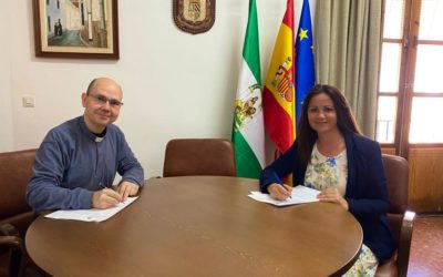 Firmado el Convenio de colaboración del Ayuntamiento de Fuente Obejuna con la Residencia de Ancianos los Ángeles que asciende a 5000 Euros