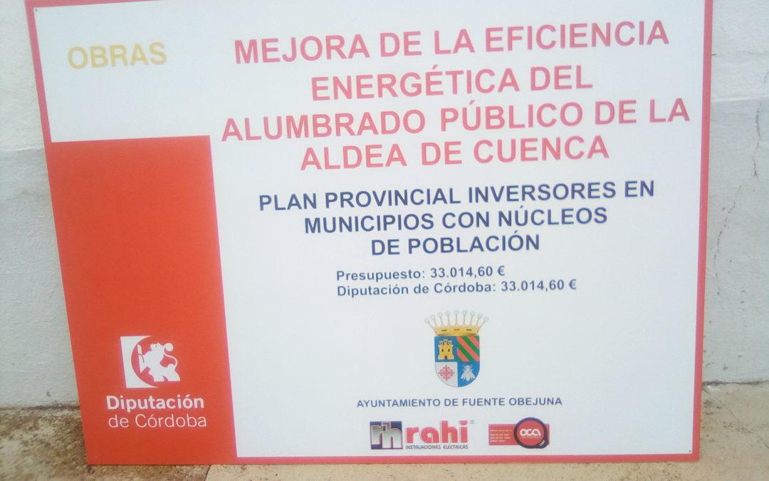 Recepción por parte del Ayuntamiento de las obras para la mejora de la eficiencia energética del alumbrado público de la aldea de Cuenca 1