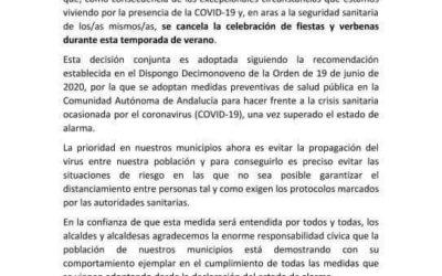 COMUNICADO CONJUNTO DE LOS AYUNTAMIENTOS DE BELMEZ, FUENTE OBEJUNA, LA GRANJUELA, OBEJO, PEÑARROYA-PUEBLONUEVO, VALSEQUILLO, VILLAHARTA, VILLANUEVA DEL REY Y VILLAVICIOSA DE CÓRDOBA