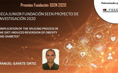 El investigador mellariense Manuel David Gahete Ortiz consigue el Premio Fundación SEEN 2020