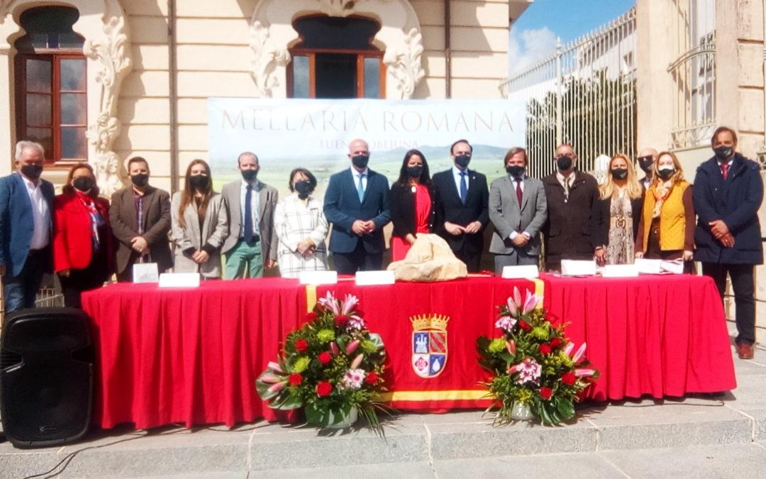 """La """"Ciudad Romana de Mellaria"""" está hoy más cerca y cuenta con  los apoyos necesarios bajo el lema del """"todos a una""""."""