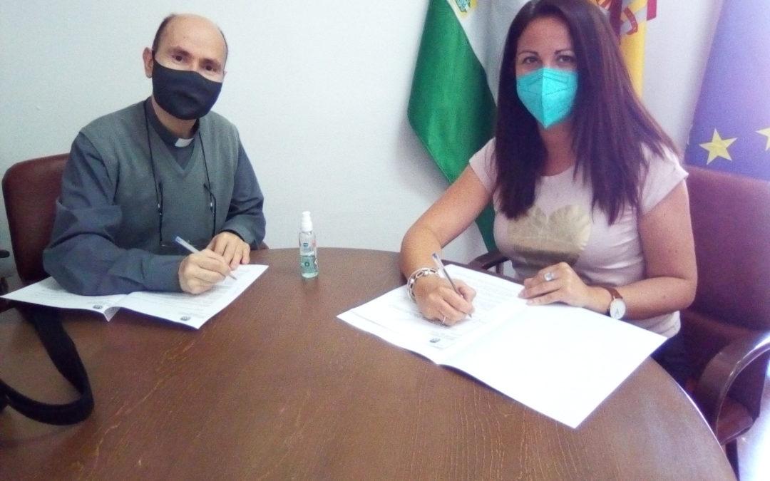 Silvia Mellado firma un nuevo convenio de colaboración del Ayuntamiento con la Residencia de Ancianos Los Ángeles valorado en 5000 Euros