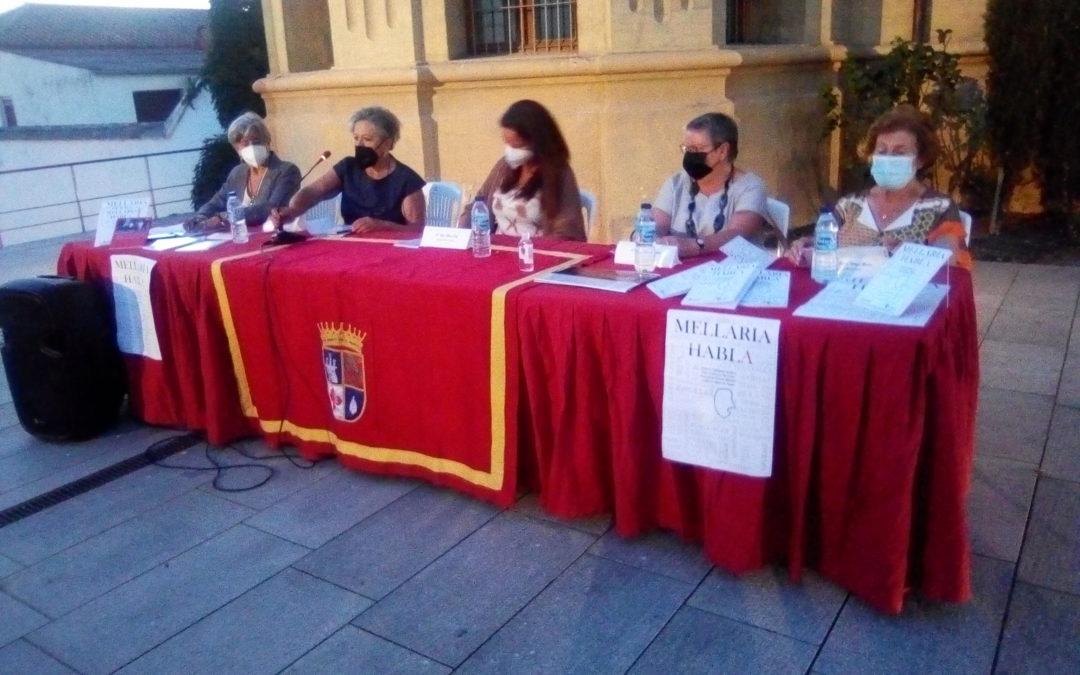 Presentación del libro MELLARIA HABLA y entrega de premios del concurso literario organizado por el Ayuntamiento de Fuente Obejuna por el Día del Libro.