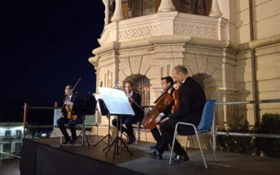 """El cuarteto clásico """"Luz de Bohermia"""" actuó en el Palacete Modernista de Fuente Obejuna"""
